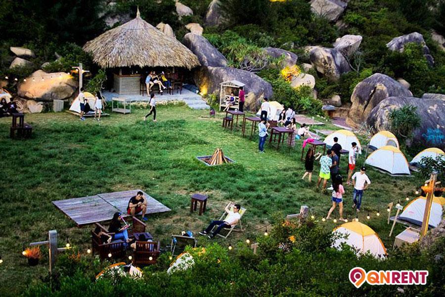 Cắm trại tại khu dã ngoại Trung Lương