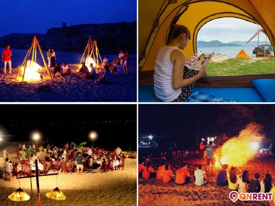 Đốt lửa trại Cù Lao Xanh