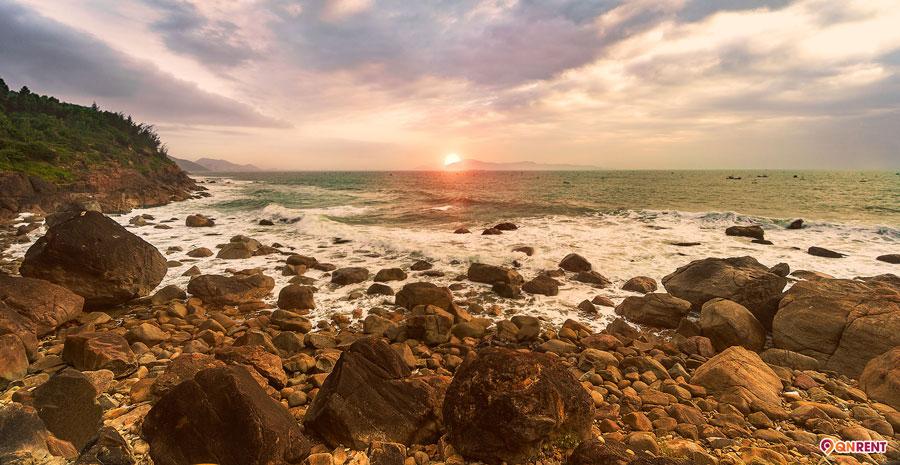 Cảnh biển hoàng hôn
