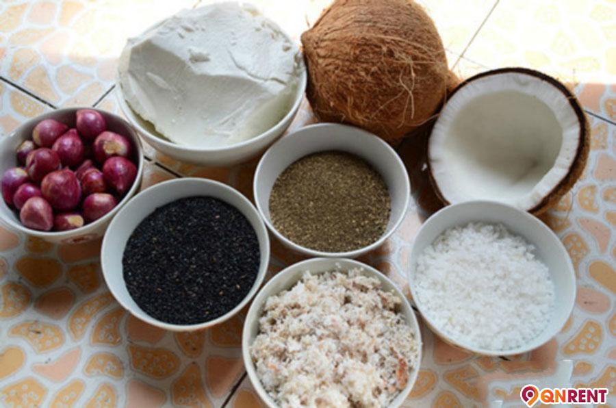 Nguyên liệu làm bánh tráng nước dừa